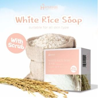 Hanasui White Rice Soap 60 Gr @ 1 Pc