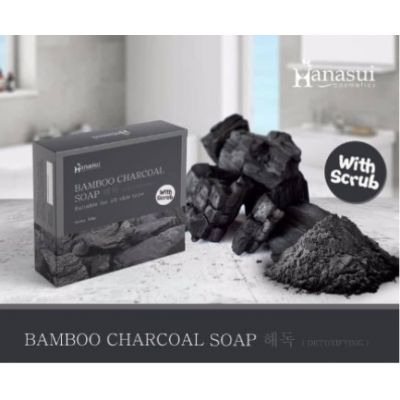Hanasui Bamboo Charcoal Soap 60 Gr @ 1 Pc
