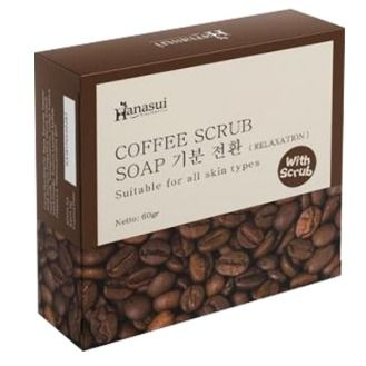Hanasui Coffee Soap 60 Gr @ 3 Pc